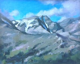 Alps painting