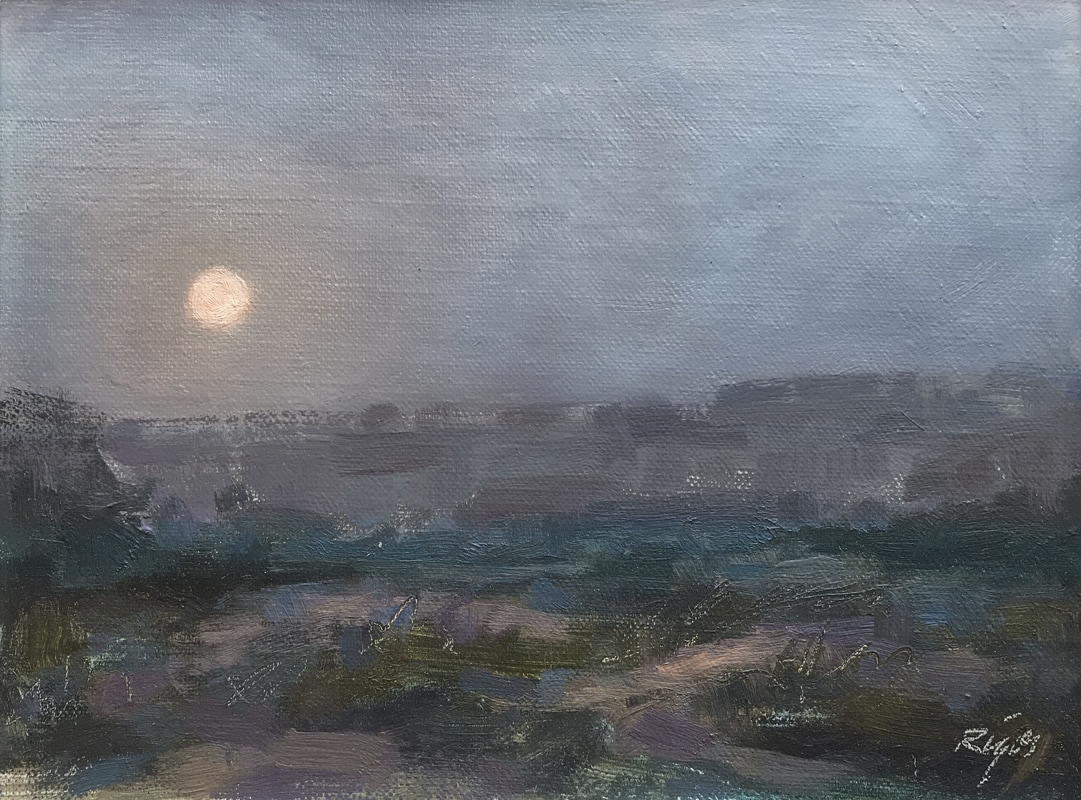 Moonrise painting Picture